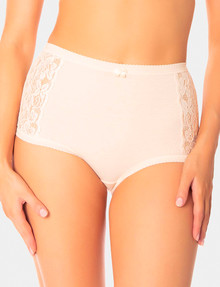 Triumph Cotton and Lace Full Brief, Beige product photo
