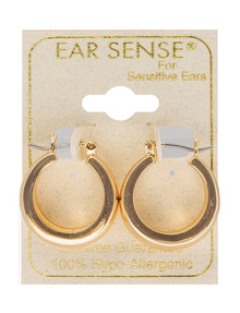 Earsense Concave Hoop Earrings, Gold product photo