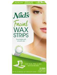 Nads Facial Wax Strips, Set-of-20 product photo