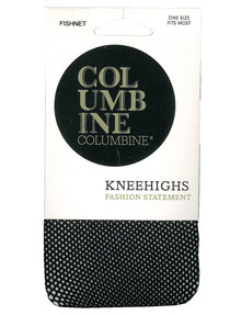 Columbine Fishnet Knee-High, Black product photo