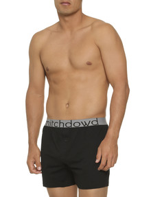 Mitch Dowd Loose-Fit Knit Boxer Short, Black product photo
